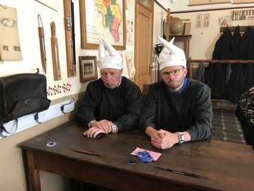 Guy Lemaire et Jean-Philippe Watteyne  à l'Ecole d'Autrefois à Viroinval