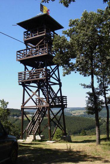Profitez d'une vue imprenable sur la région en montant au sommet de la tour Leroux. Pour la mériter, il faut grimper 65 marches!
