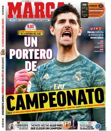 """Courtois en Une du journal espagnol Marca: """"le meilleur du championnat"""""""
