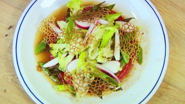 Pastèque caramélisée et légumes croquants Ingrédients: