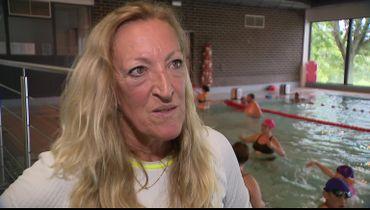 Pascale Rombaux, employée à la piscine de Binche