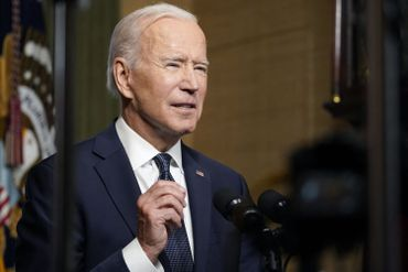 Joe Biden à la Maison-Blanche, le 14 avril 2021