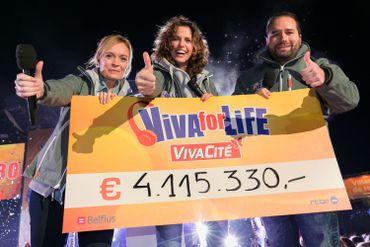 Explosion de joie lors de la découverte du montant final récolté pour Viva for Life !