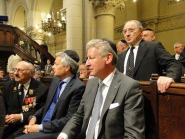 Les vice-Premier ministres Reynders et De Crem, à la Grande Synagogue de Bruxelles