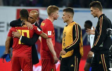 Roberto Martinez réconforte Eden Hazard