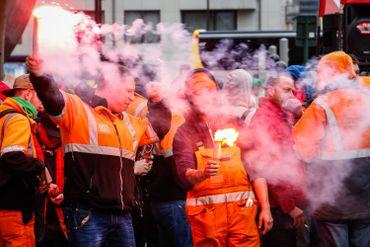 Les manifestants ont défilé du Nord au Midi
