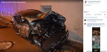 Slovaquie: une voiture s'envole dans les airs, percute le haut d'un tunnel... et finit un tonneau (vidéo)