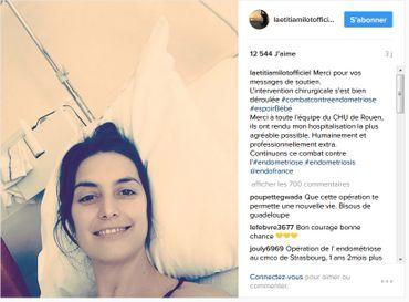 Laetitia Millot hospitalisée : elle va bien