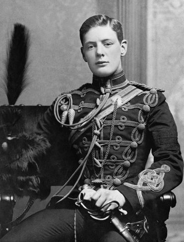 Winston Churchill - 2nd Lieutenant Winston Churchill of the 4th Queen's Own Hussars (1895).