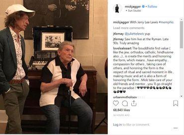 Mick Jagger et Jerry Lee Lewis
