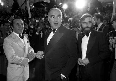 Claude Brasseur, Michel Piccoli et le réalisateur Francis Girod en 1978