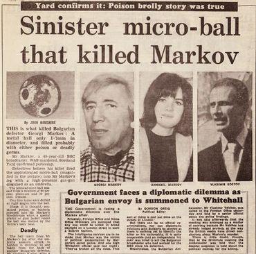 Article de presse faisant le point sur ce qui est arrivé à Georgi Markov