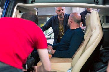 François Damiens et Jérome Colin se préparent pour le tournage de l'émission