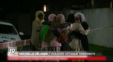 Image extraite du sujet diffusé au JT le soir du double attentat à Christchurch
