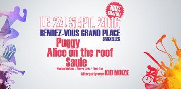 Alice on the Roof, Puggy et Saule en concerts gratuits sur la Grand-Place