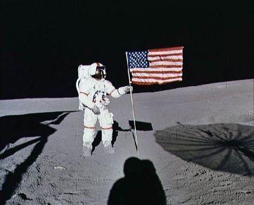 Alan Shepard en 1971, sur la mission Apollo 14