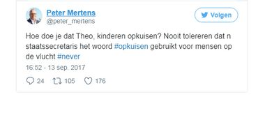 """Emoi sur Facebook: Theo Francken parle de """"#nettoyer"""" le parc Maximilien:"""