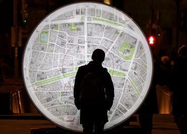 C'est beau, un plan, la nuit (photo prise à Moscou)