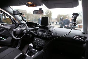 Dans la voiture radar