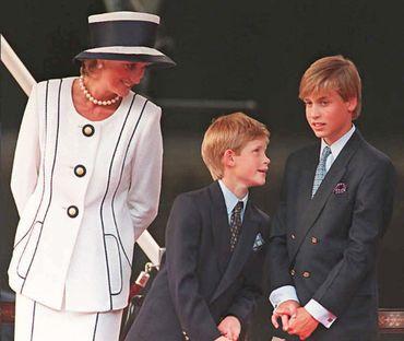 Diana, Harry et William en 1995