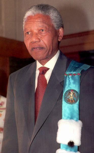 Nelson Mandela le 6 octobre 1993 à Bruxelles