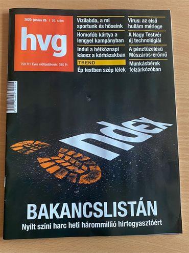 Le sort du site Index fait la une du magazine HVG
