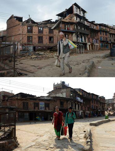 Les ruines ont été déblayées mais très peu de bâtiments ont été reconstruits.