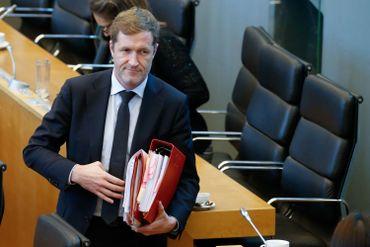 Paul Magnette, le ministre-président de la Wallonie, après un débat sur le CETA au Parlement wallon le 28 octobre dernier