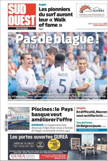 """""""Pas de blague"""": la presse française méfiante avant la demi-finale contre la Belgique"""