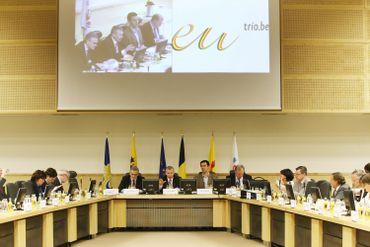 Réunion au Palais d'Egmont dans le cadre de la présidence belge de l'Union européenne en  2010
