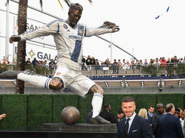 David Beckham et sa statue