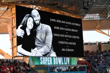 L'hommage à Kobe Bryant et sa fille lors du Super Bowl remporté par les Chiefs de Kansas City.