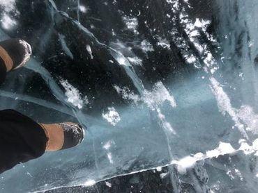 La rivière Mackenzie gelée