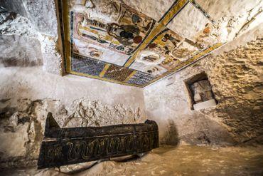 Le tombeau a été récemment découvert par une équipe issue d'une collaboration entre la France et l'Egypte