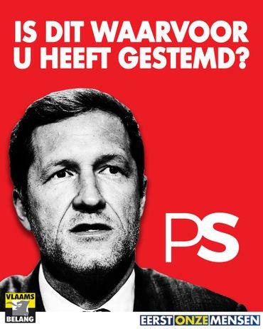Le nouveau visuel du jour du Vlaams Belang