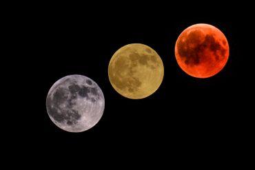 Revivez l'éclipse lunaire de ce vendredi en images et en video