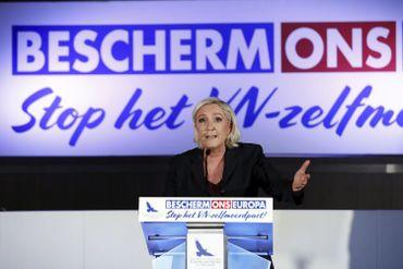 Marine Le Pen, présidente du rassemblement national (ex-FN)