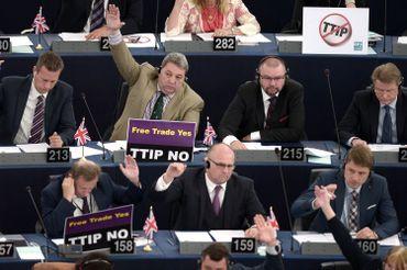 Certains parlementaires ont clairement fait part de leur opposition au traité commercial transatlantique ce mercredi.