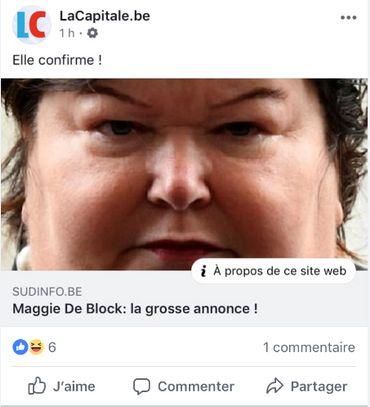 Sur Facebook... sans commentaires