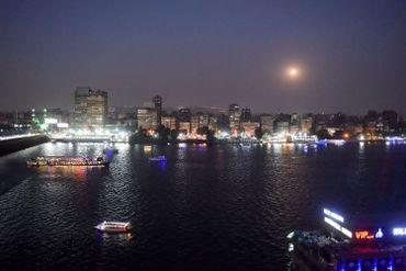L'éclipse vue du Caire.