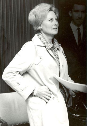 Michèle Morgan lors de l'enregistrement à la RTBF Liège en 1969