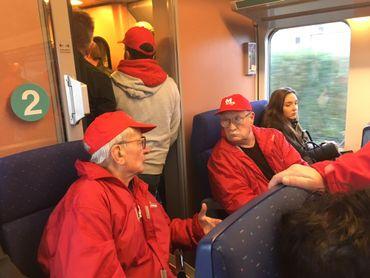 Une délégation se rend en train à La Louvière pour aller manifester.