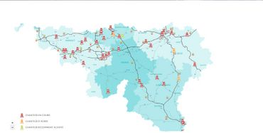 Carte de la Sofico sur les chantiers actuels