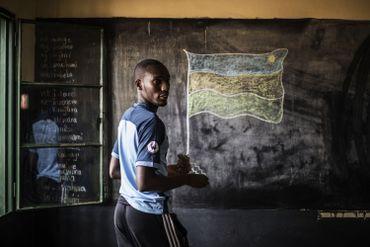 Partout dans le pays des drapeaux rwandais ont été représentés dans les bureaux de vote.