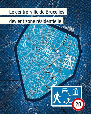Le centre-ville de Bruxelles devient zone résidentielle, la vitesse limitée à 20km/h à partir de lundi