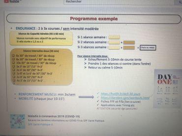 programmes d'entrainements en ligne
