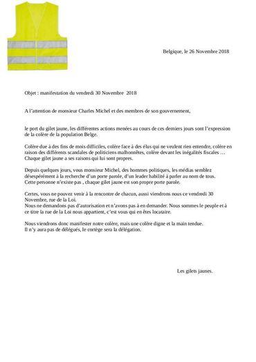 Une lettre adressée à Charles Michel et son gouvernement, tourne sur les réseaux sociaux