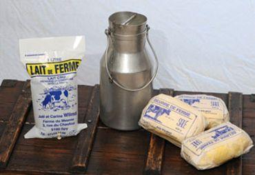 Beurre, lait, crème fraiche de la ferme