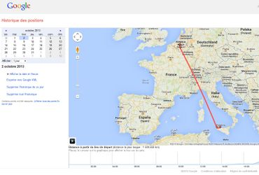 Google a suivi mon reportage en Sicile à la trace