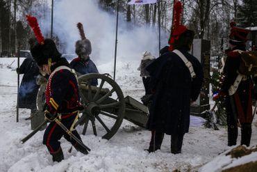 Salves de canons à Viazma, en Russie, le 13 février 2021